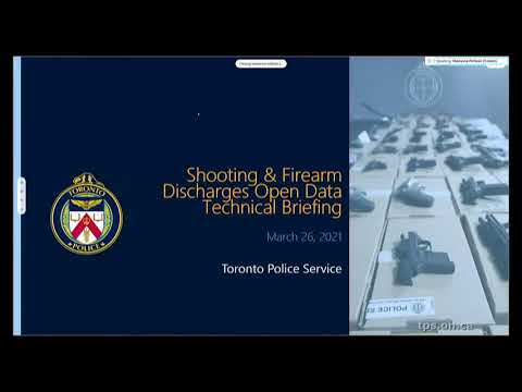 Toronto Police Service | Technical Briefing re: Public Safety Data Portal