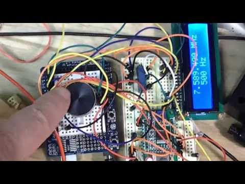 Arduino AD9850 NE602 Superhet all band reciever