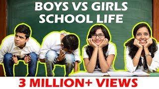 Video BOYS vs GIRLS in SCHOOL LIFE | The Half-Ticket Shows MP3, 3GP, MP4, WEBM, AVI, FLV Maret 2018