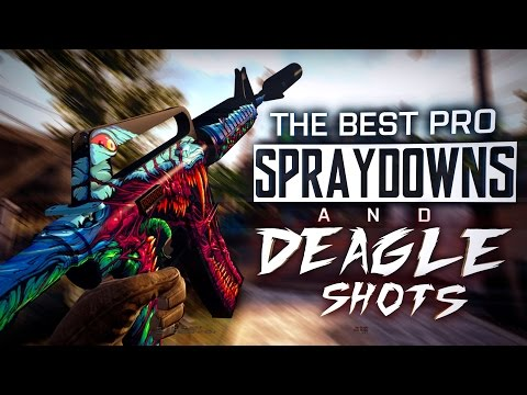 CS:GO | The BEST PRO SPRAYDOWNS & DEAGLE SHOTS (The best Juan Deag's, Incredible ACEs) MONTAGE REUP.