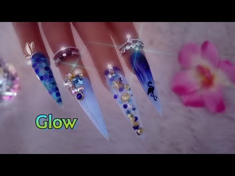 Diseños de uñas -  Uñas para Playa / Brillan de Noche