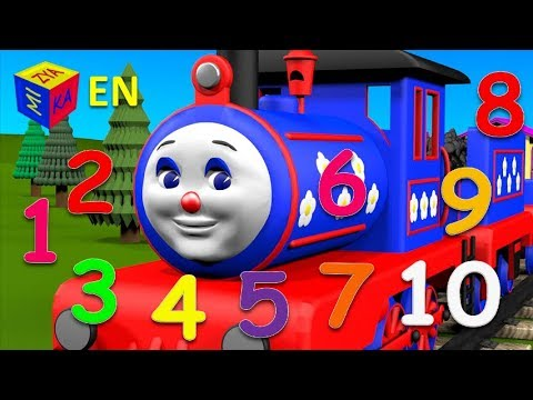 Learn to count from 1 to 10 with choo choo train educational cartoons