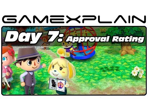 3DS - http://www.GameXplain.com In day seven of our Animal Crossing: New Leaf video journal, we try and improve our town's approval rating by cleaning it up and de...
