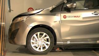 Crash test delantero Mazda 5