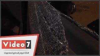 بالفيديو..آثار انفجار قنبلة بنقطة مرور محور 26 يوليو
