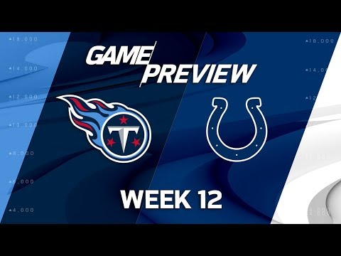 Video: Tennessee Titans vs. Indianapolis Colts | NFL Week 12 Game Preview | NFL Playbook