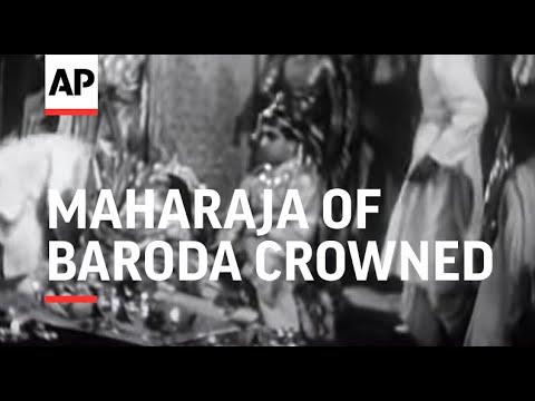 Maharaja of Baroda Crowned (1939) (Baroda)