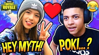 MYTH FINALLY MEETS POKIMANE IN REAL LIFE! *AWKWARD!* Fortnite SAVAGE & FUNNY Moments