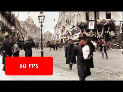 Нейросеть раскрасила первое видео о московской жизни в 1896 году
