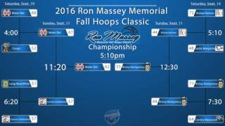 2016 Ron Massey Memorial Bracket with game results.  Games were played at Lynwood High School in Lynwood, CA.