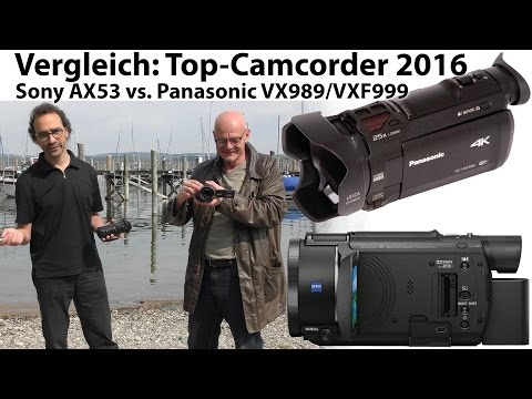 Test: Sony AX53 vs Panasonic VX989/VXF999 - Top-4K-Camcorder 2016