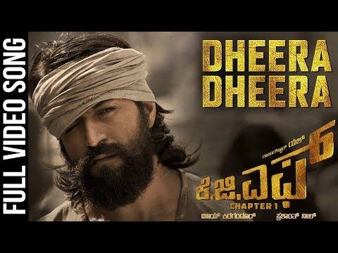 Dheera Dheera Full Video Song | KGF Kannada Movie | Yash | SrinidhiShetty |Prashanth Neel | Hombale