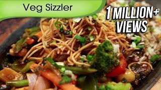 Veg Sizzler In Soya Chilli Sauce - Asian Vegetable Sizzler Recipe By Ruchi Bharani [HD]