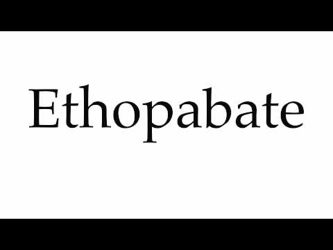 How to Pronounce Ethopabate