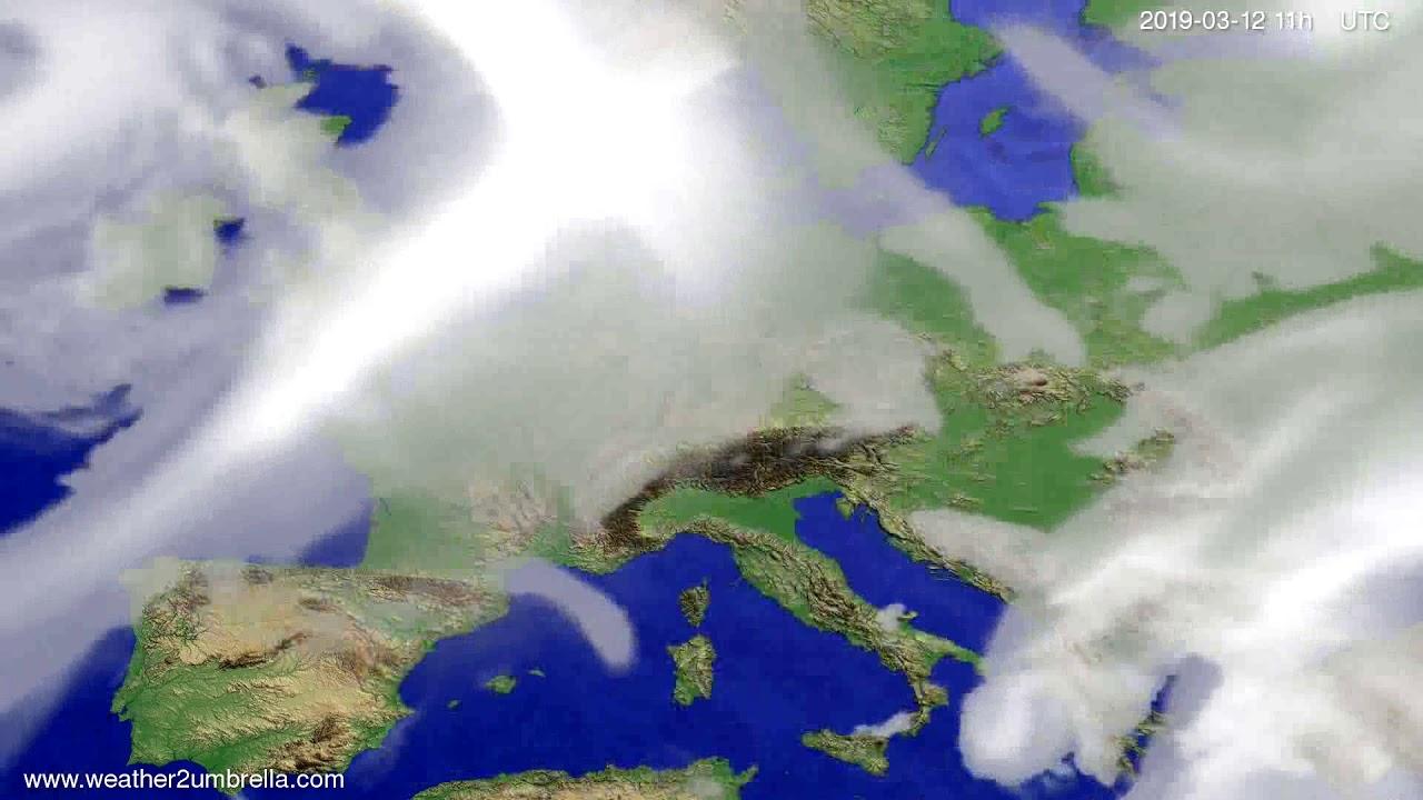 #Weather_Forecast// Cloud forecast Europe 2019-03-11