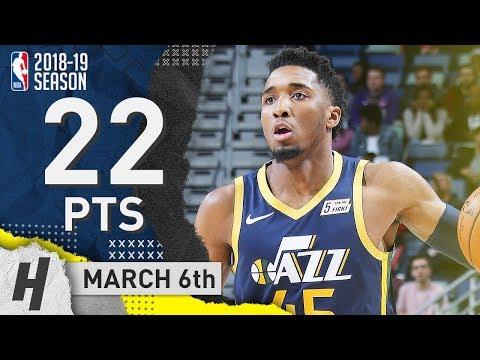 Donovan Mitchell Full Highlights Jazz vs Pelicans 2019.03.06 - 22 Points! - Thời lượng: 107 giây.