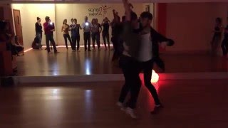 Barbra&Dave Salsa on2 Partnerwork w Dance Atelier