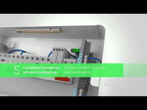 Schneider Electric EZ9S2R5R5DMREL Unit 5+5 Fully Loaded Consumer Unit Product Video
