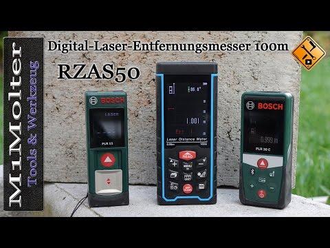 RZAS50 Digital Laser Entfernungsmesser 100m - Vorstellung und Werkzeugtest von M1Molter