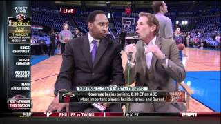 Skip Bayless and Stephen A. Smith Arguing