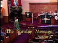 Sunday Message 7/29/2018