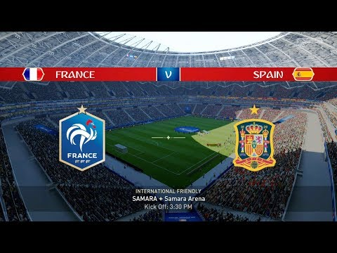 FIFA World Cup 2018 - France Vs Spain - FULL GAMEPLAY - PS4