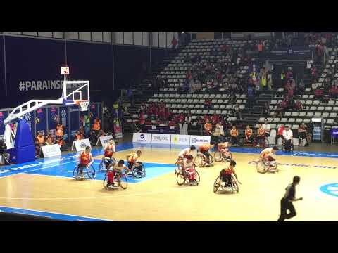 INDONESIA VS CHINA Wheelchair Basketball - Asian Para Games 2018 - Donald Santoso and Team