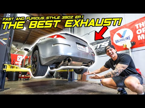 Installing the PERFECT 350z Exhaust! | Building Fast and Furious Style 350z Ep. 1
