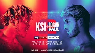 KSI vs Logan Paul 2 UK Press Conference