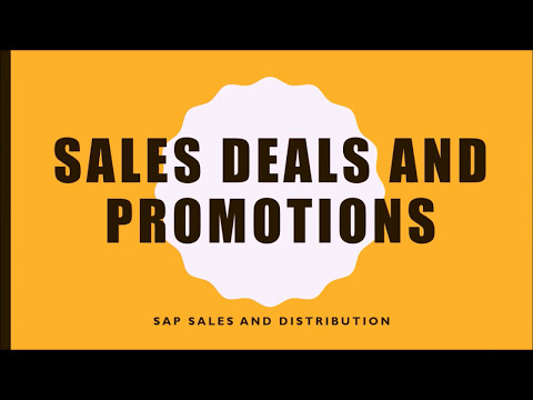 SAP Sales Deal and Promotions