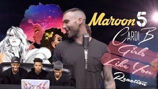 Video Maroon 5 - Girls Like You Feat. Cardi B REACTION MP3, 3GP, MP4, WEBM, AVI, FLV Juli 2018
