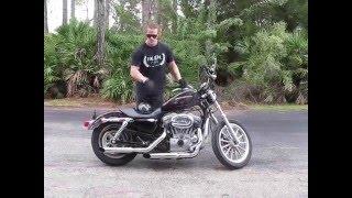 2. 2007 Harley Davidson Sportster Low XL 883L (purple) #1499 Fallen Cycles Test Ride