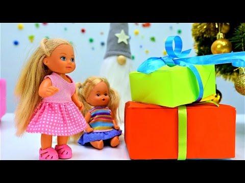 Игры для девочек и видео про #куклы #Барби. Штеффи и сюрприз на новый год. Куколки и пупсы (видео)