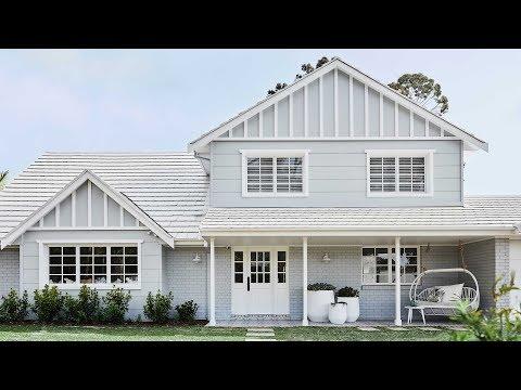 Facade + Entry Reveal, Episode 1   Colour Me Hamptons Renovation   House 11
