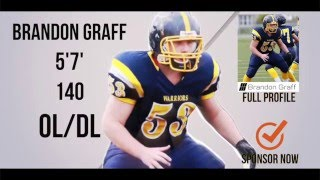 Brandon Graff- HESN 2K15 Football Highlights OL - Class 2019