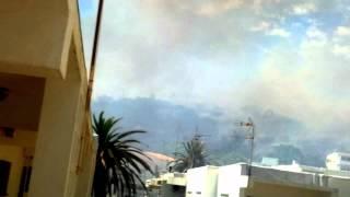 Torreguadiaro Spain  city photos gallery : Fire in Torreguadiaro