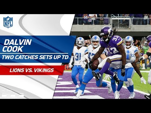 Video: Diggs & Thielen Pull Off Two Great Grabs & Cook Sprints for Big TD! | Lions vs. Vikings | NFL Wk 4
