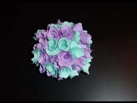 adorno con flores de papel (centro de mesa)