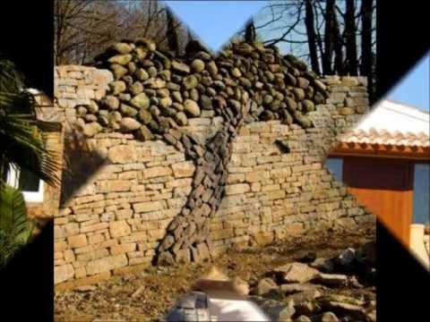 Casa muros de piedra videos videos relacionados con - Muros de piedra natural ...