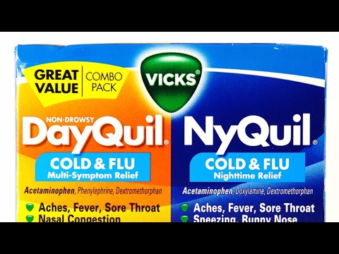 DayQuil V.S. NyQuil ((How to get over a cold))