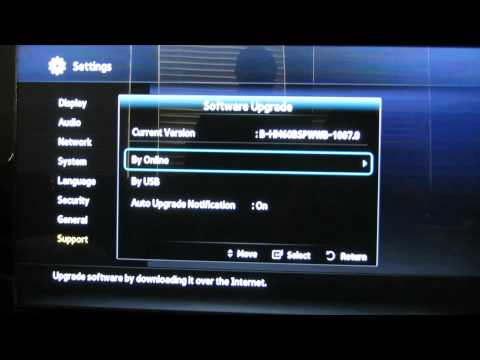 How to do a software update on the Samsung Blu-ray Player