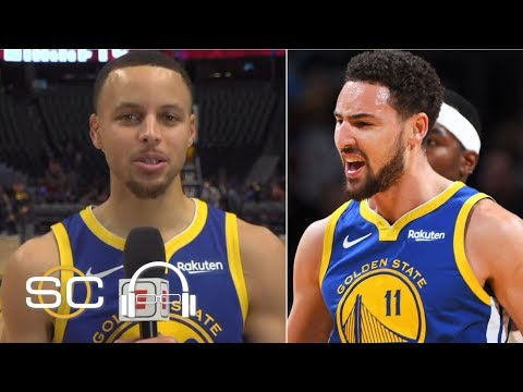 Steph Curry jokes that Klay Thompson is auditioning for the NBA Slam Dunk Contest   SC with SVP