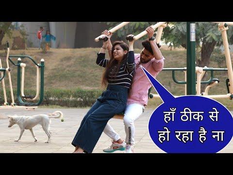 Prank On Hot Girl🔥 In Park GYM || New Prank Video || Suren Ranga