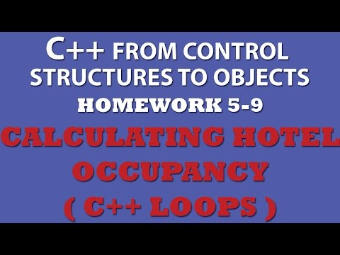 C++ Calculating Hotel Occupancy (Ex 5.9) With While Loops, For Loops