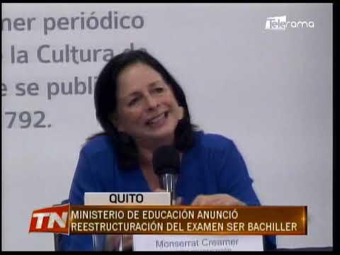 Ministerio de educación anunció reestructuración del examen Ser Bachiller
