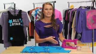 T-shirt Makeover: Form Fit Fashion with Studs - YouTube