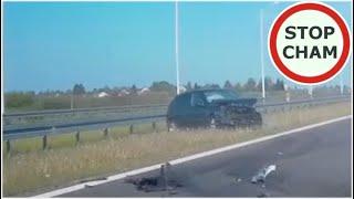 Ostre hamowanie na ekspresówce doprowadza do wypadku – 11.05.2020