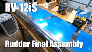 Van's Aircraft RV-12iS Rudder Final Assembly -Part 3