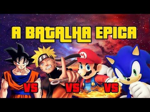 GOKU, NARUTO, MARIO, SONIC QUEM VENCE? - Super Smash Flash 2