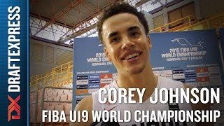 Corey Johnson 2015 FIBA U19 World Championship Interview